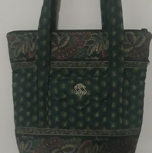 Emerald Green Quilted Vera Bradley Tote